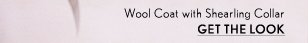 Wool Coat With Sherling Collar