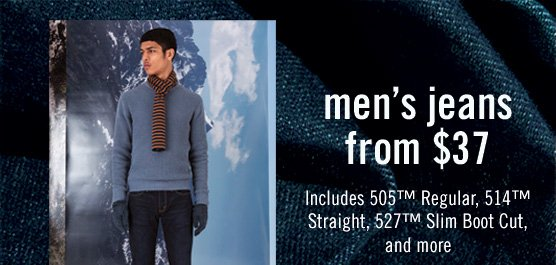 Men's Jeans from $37 Includes 505™ Regular, 514™ Straight, 527™ Slim Boot Cut, and more