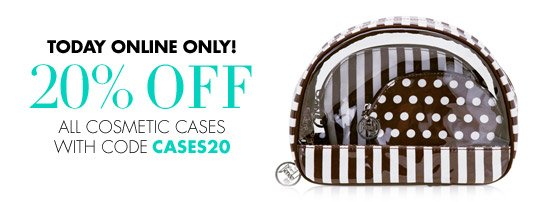 20% OFF COSMETIC CASES