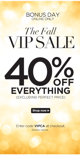 VIP Sale Extended! 40% off