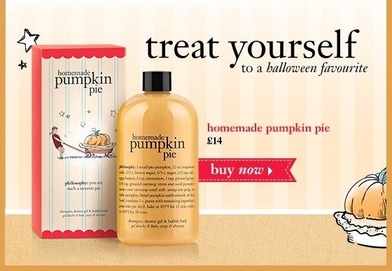 Treat yourself to a halloween favourite homemade pumpkin pie shampoo, shower gel & bubble bath 16 oz. buy now