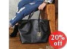 Faux-Leather Shopper Bag