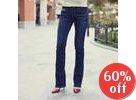 Boot-Cut Blue Jeans