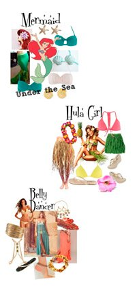 Custom ideas for Halloween, Mermaid, Hula Girl, Belly Dancer