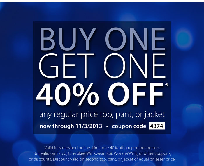 Buy One Get One 40% Off This Week