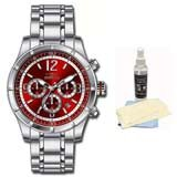 Invicta 11373 Men's Specialty Red Dial Stainless Steel Bracelet Chronograph Watch with Ultimate Watch Care Kit