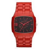 Diesel DZ1551 Men's Black Dial Red Acetate Plastic Bracelet Watch