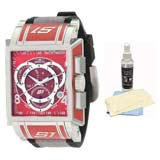 Invicta 1450 Men's S1 Touring Red Dial Rubber & Nylon Strap Chronograph Swiss Watch with Ultimate Watch Care Kit
