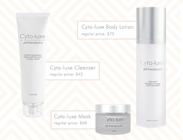 Cyto-luxe Body Lotion, Cyto-luxe Cleanser, Cyto-luxe Mask