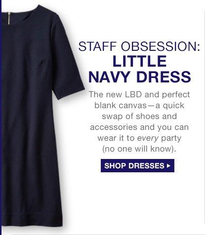 STAFF OBSESSION: LITTLE NAVY DRESS | SHOP DRESSES