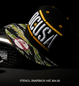 Stencil Snapback Hat, $34.00