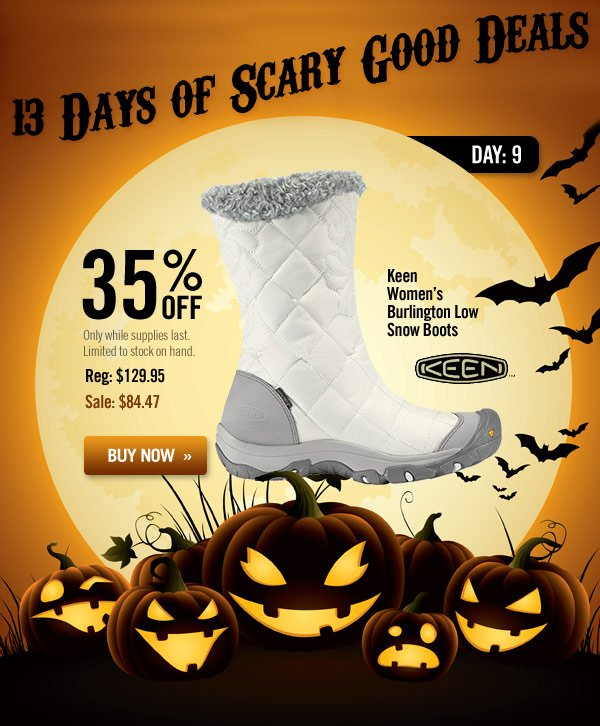 13 Days of Scary Good Deals - Day 9: Keen Women's Burlington Low Snow Boots