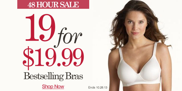 19 Bras for $19.99 Sale - Click here to shop