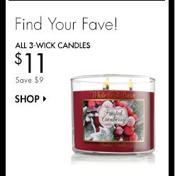 All 3-Wick Candles - $11
