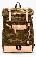 MASTER-PIECE Co Green Camo Print Surpass Backpack for men