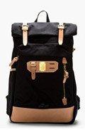 MASTER-PIECE Co Black Surpass Cargo Backpack for men
