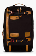 MASTER-PIECE Co Black Leather-Trimmed Potential Backpack for men