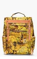 MASTER-PIECE Co Green forest-print rucksack for men