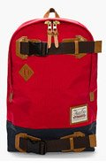 MASTER-PIECE Co Red belted Buddy backpack for men