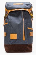MASTER-PIECE Co Navy Leather-trimmed Potential Backpack for men