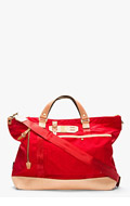 MASTER-PIECE Co Red Leather-trimmed Surpass tote for men