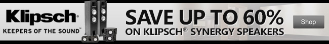 klipsch keepers of the sound. save up to 60% on klipsch synergy speakers. shop.