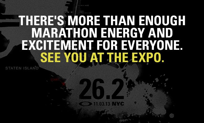 THER'S MORE THAN ENOUGH MARATHON ENERGY AND EXCITEMENT FOR EVERONE.