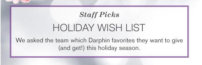 Staff Picks. Holiday wish list.