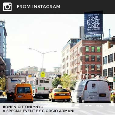 FROM INSTAGRAM #onenightonlynyc A special event by Giorgio Armani