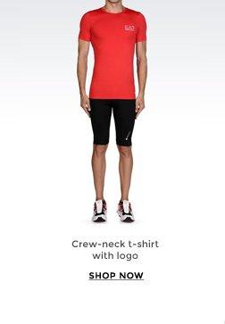 CREWNECK T-SHIRT WITH LOGO