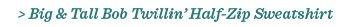 Big & Tall Bob Twillin' Half-Zip Sweatshirt