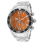 Invicta 14198 Men's Lupah Diver Orange Dial Steel Bracelet Chronograph Watch