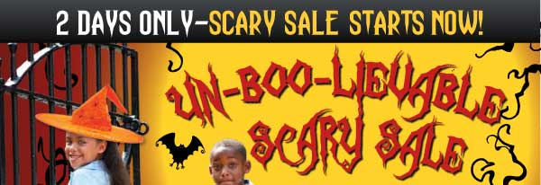 Secret Spooky Sale Starts NOW! 2 Days Only 15% Off entire site