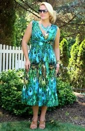Women's Plus Size Cover Ups - Always For Me Cover Peacock Dress