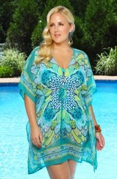 Women's Plus Size Cover Ups - Always For Me Cover Butterfly Caftan