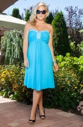 Women's Plus Size Cover Ups - Always For Me Cover Bandeau Dress