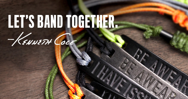 Introducing our new AWEARNESS bracelets, available in a variety of colors. 100% of net profits from these bracelets will go to AWEARNESS, The Kenneth Cole Foundation, to promote, encourage, and inspire meaningful social change, and support like-minded individuals and organizations to make a difference.