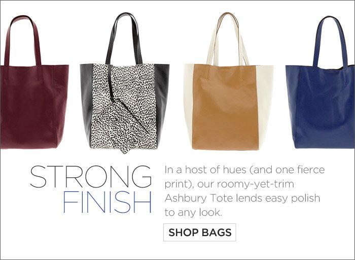 STRONG FINISH | SHOP BAGS