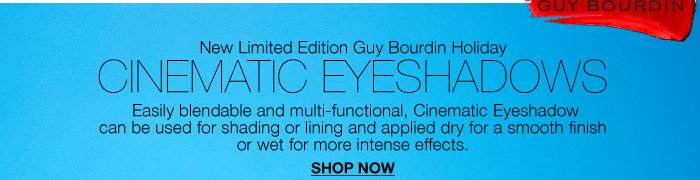 New Limited Edition Guy Bourdin Holiday Cinematic Eyeshadows