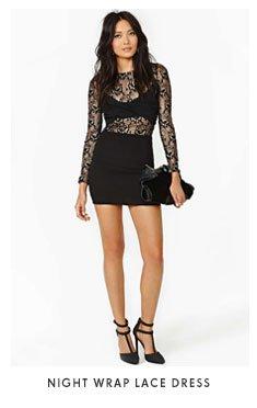 Night Wrap Lace Dress