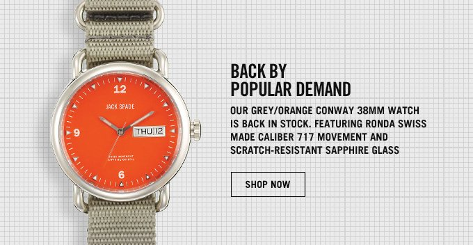 BACK BY POPULAR DEMAND. CONWAY 38MM WATCH. SHOP NOW.