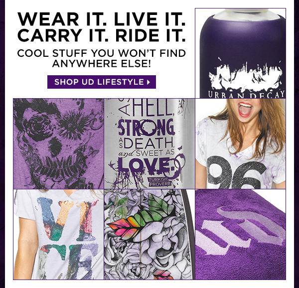 Wear it. Live it. Carry it. Ride it. Cool stuff you won't find anywhere else! Shop UD Lifestyle >