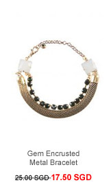 PARFOIS Gem Encrusted Metal Bracelet