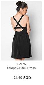 EZRA Strappy-Back Dress