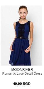 MOONRIVER Romantic Lace Detail Dress
