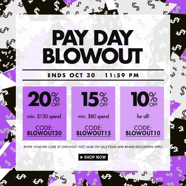 Pay day Up to 20% discount!