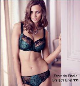 Fantasie Elodie Underwired Bra With Side Support $59 & Elodie Brief $31