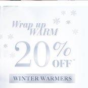20% off Winter warmers