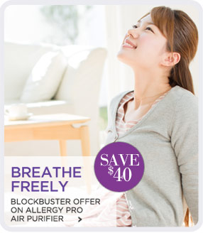 BLOCKBUSTER OFFER ON ALLERGY PRO AIR PURIFIER