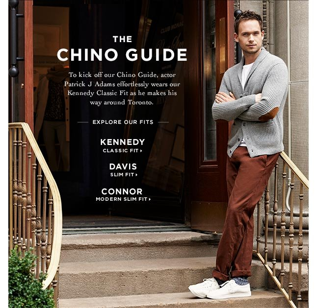 Just In: Our Chino Guide Featuring Patrick J. Adams